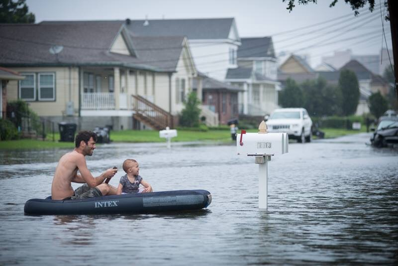 Flooding in New Orleans by Anat Cohen Photography