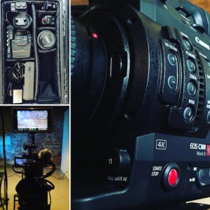 Canon C300 Mark II shooting corporate interview with Atomos Shogun 4K